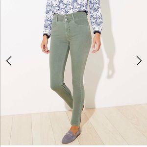 NWT Loft High Rise Slim Pocket Skinny Jeans Sz 12